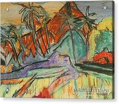 Volcan Rojo 98 Acrylic Print by Bradley Bishko