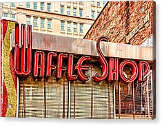 Waffle Shop Acrylic Print by Christopher Holmes