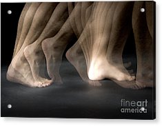 Walking Acrylic Print by Ted Kinsman