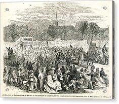 Washington: Abolition, 1866 Acrylic Print by Granger