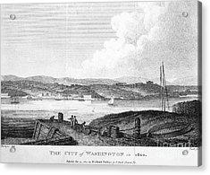 Washington, D.c., 1800 Acrylic Print by Granger