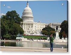 Washington Dc Capitol  Acrylic Print by Lissandra Melo
