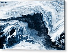 Water Abstraction Acrylic Print by Iryna Shpulak