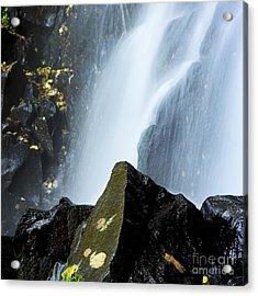 Waterfall In Auvergne Acrylic Print by Bernard Jaubert