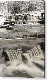 Waterfalls With Fresh Snow Thunder Bay Acrylic Print