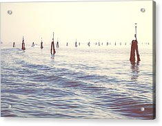 Waterway In The Lagoon Of Venice Acrylic Print by Joana Kruse