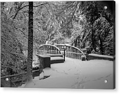 Watkins Glen Gorge Bridge In Winter 2 Acrylic Print