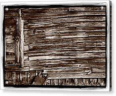 Weathered Wall In Bodie Ghost Town Acrylic Print