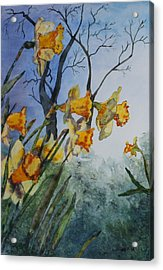 Acrylic Print featuring the painting Welcome Springtime by Patsy Sharpe