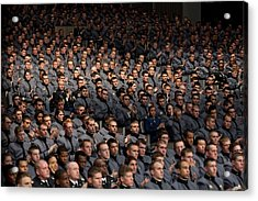 West Point Cadets Applaud President Acrylic Print by Everett