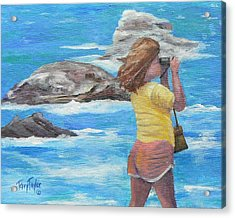 Acrylic Print featuring the painting What's Out There by Terry Taylor