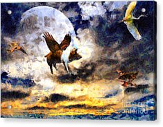 When Pigs Fly Acrylic Print by Wingsdomain Art and Photography