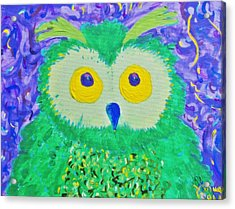 WHO Acrylic Print by Yshua The Painter