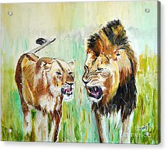 Acrylic Print featuring the painting wild Kingdom by Judy Kay