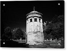 William Huskisson Memorial In St James Cemetery Liverpool Merseyside England Uk  Acrylic Print by Joe Fox
