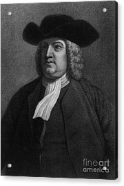 William Penn, Founder Of Pennsylvania Acrylic Print by Photo Researchers