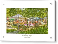 Windermere Fall Festival Acrylic Print