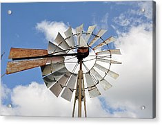 Windmill Acrylic Print by Teresa Blanton