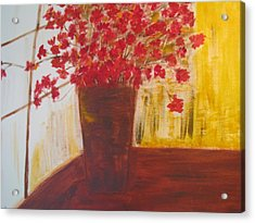 Window Flowers Acrylic Print by Brindha Naveen
