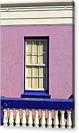 Windows Of Bo-kaap Acrylic Print by Benjamin Matthijs