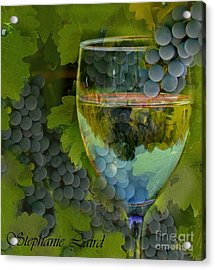Wine Glass Acrylic Print by Stephanie Laird
