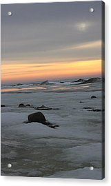 Winter Evening Lights Acrylic Print