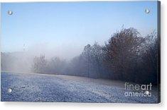 Winter Landscape Acrylic Print by Odon Czintos