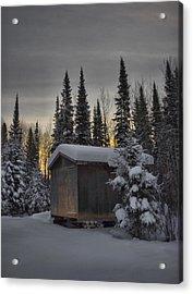 Winter Solitude Acrylic Print by Heather  Rivet