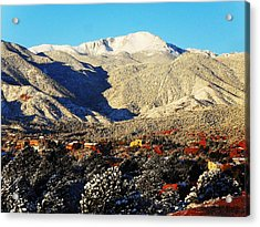 Acrylic Print featuring the photograph Wintery Colorado Morning by Clarice  Lakota