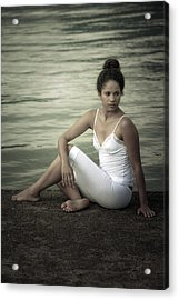 Woman At A Lake Acrylic Print by Joana Kruse