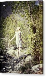 Woman In A Forest Acrylic Print by Joana Kruse