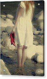 Woman In A River Acrylic Print by Joana Kruse