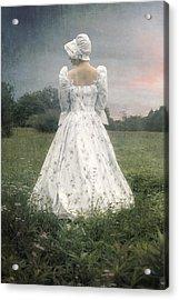 Woman With Bonnet Acrylic Print by Joana Kruse