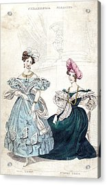 Womens Fashion, 1833 Acrylic Print by Granger