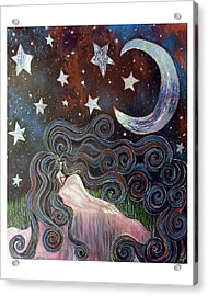 Acrylic Print featuring the painting Wonder Of Night by Monica Furlow