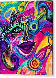 Wonkey Acrylic Print by Joy Tagliavia