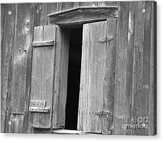 Acrylic Print featuring the photograph Wooden Window by Yumi Johnson