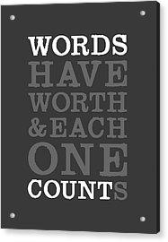 Words Count Acrylic Print