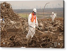 Workers At The Fresh Kills Landfill Acrylic Print