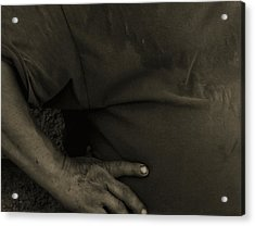 Acrylic Print featuring the photograph Working Man by Lin Haring