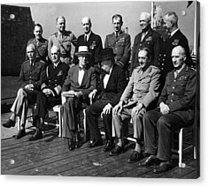 World War II. Seated, From Left George Acrylic Print by Everett