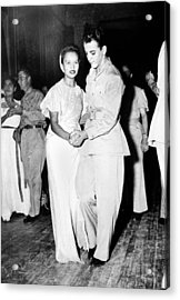World War II, U.s. Soldiers Dancing Acrylic Print by Everett