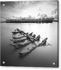 Wreck Acrylic Print by Teerapat Pattanasoponpong