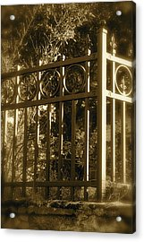 Acrylic Print featuring the photograph Wrought Iron Fence by Robin Regan