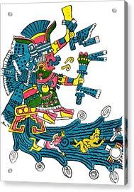Xochiquetzal, Aztec Goddess Of Beauty & Acrylic Print by Photo Researchers