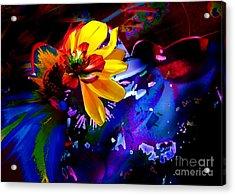 Yellow Flower Acrylic Print by Doris Wood