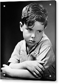 Young Boy Pouting Acrylic Print by George Marks