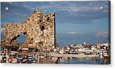 Yumurtalik Harbour Acrylic Print by Gabriela Insuratelu