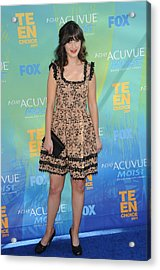 Zooey Deschanel At Arrivals For 2011 Acrylic Print by Everett