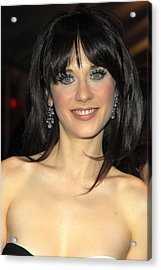 Zooey Deschanel At Arrivals For Failure Acrylic Print by Everett